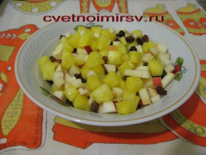 Яблоко с ананасом